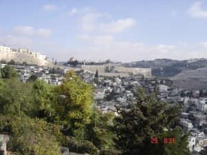 Mosquée Omar vue du mont Sion