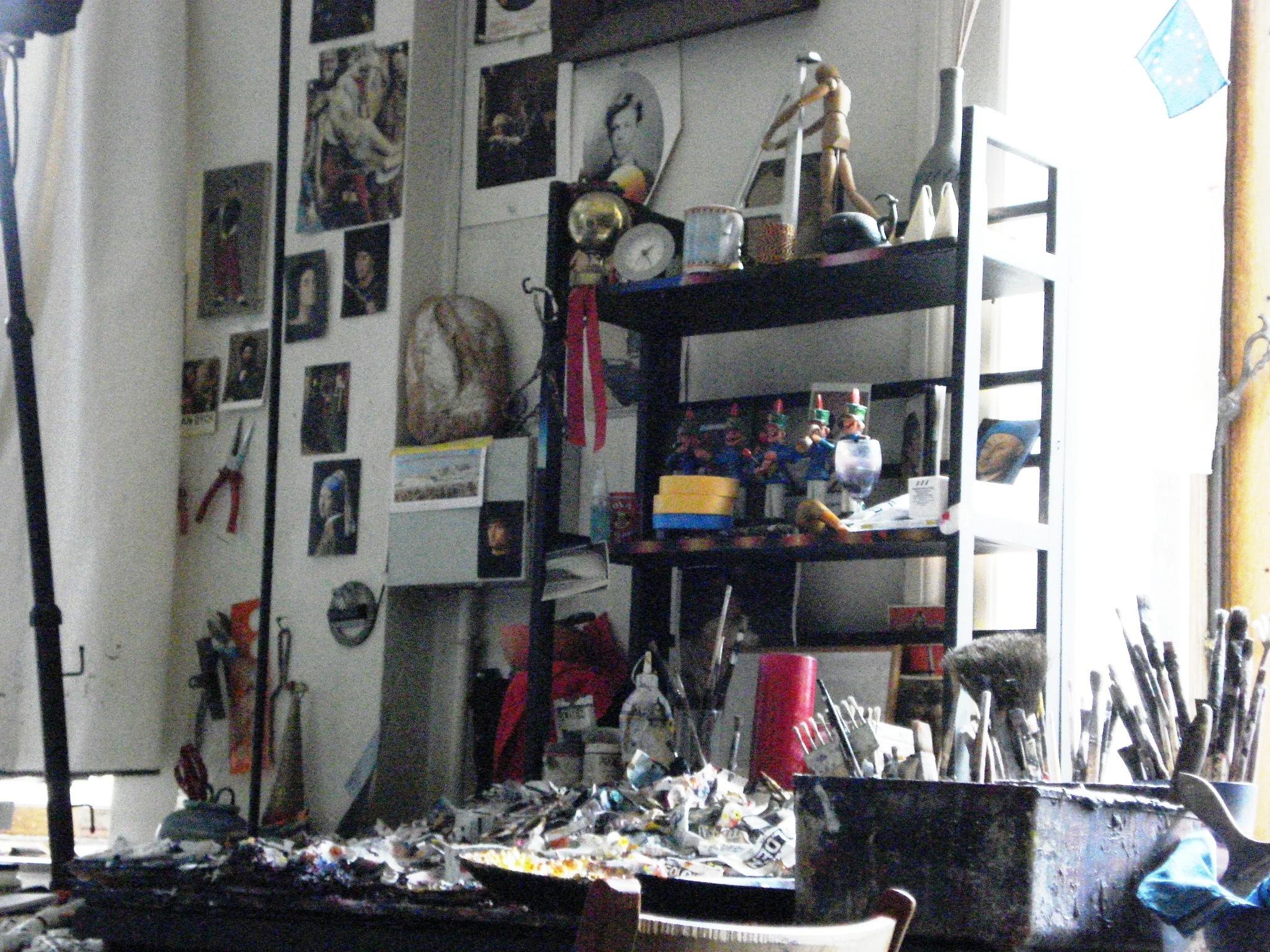 dans l atelier du peintre charles delhaes les lettres d. Black Bedroom Furniture Sets. Home Design Ideas