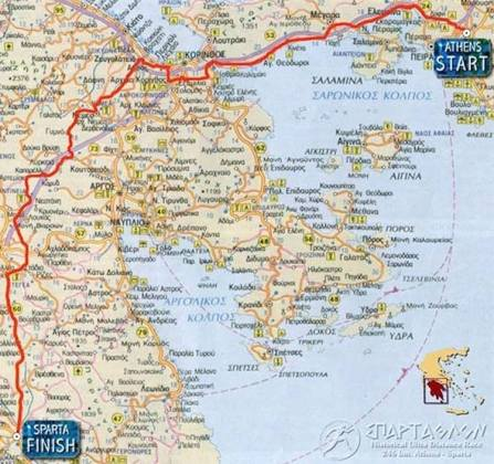 The Spartathlon Route - Tompky's Challenges